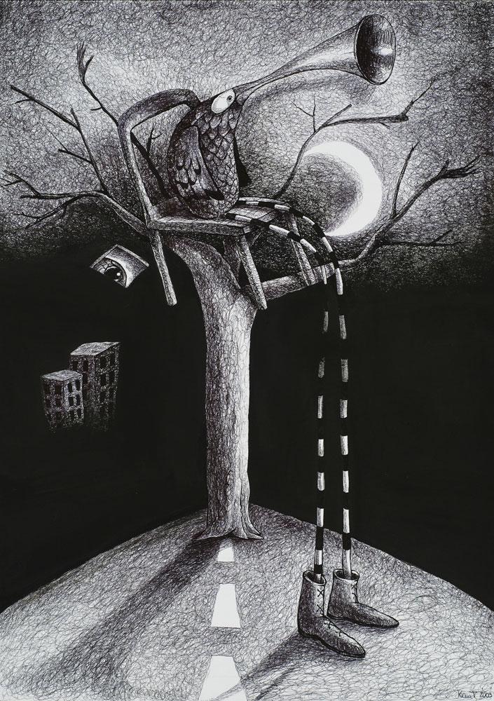 Seduto su un albero incontrato per caso (2009)